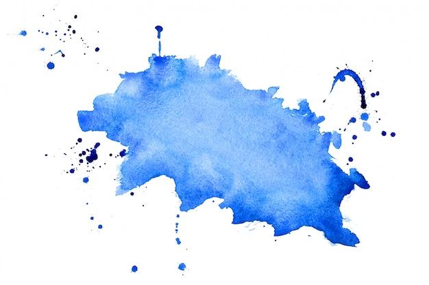 抽象的な青い水彩スプラッタテクスチャ背景デザイン