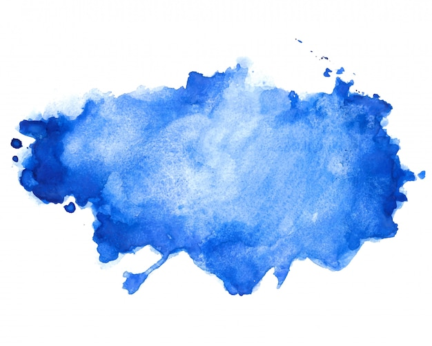 抽象的な青い水彩汚れテクスチャ背景デザイン
