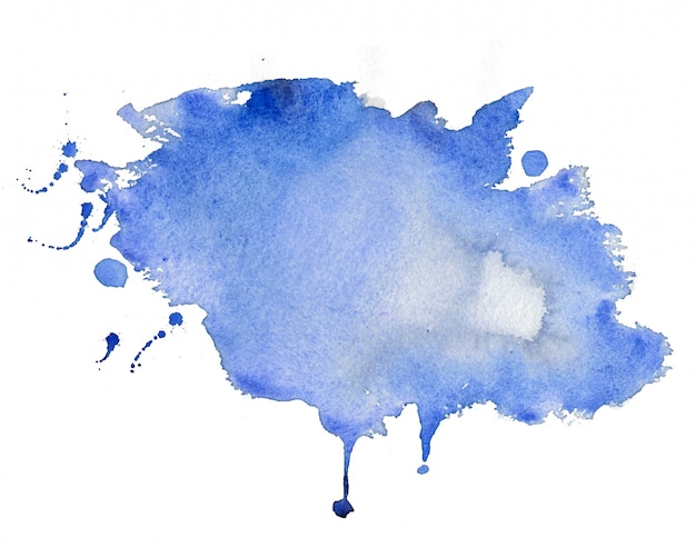 Abstract blue watercolor stain texture background