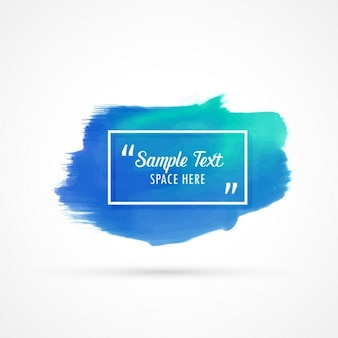 Acquerello astratto macchia blu, con spazio per il testo