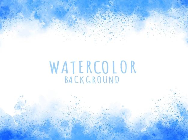 抽象的な青い水彩画の汚れの背景