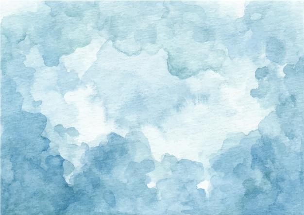 Абстрактный синий акварельный фон текстуры
