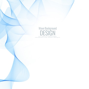 Abstract blue wave background desig