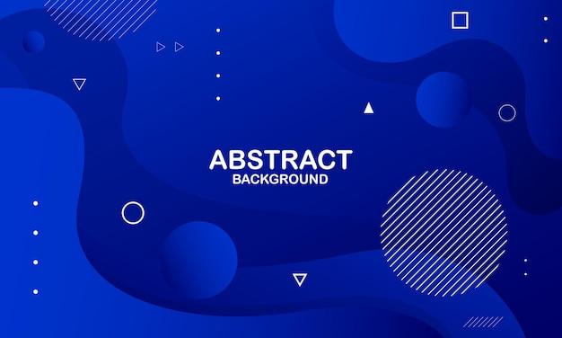 Абстрактный синий фон волны. композиция динамических фигур