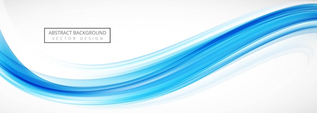 Abstract blue wave banner template
