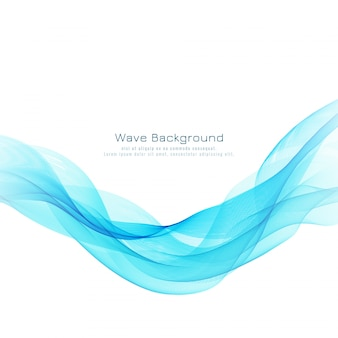 Abstract blue wave  decorative modern background