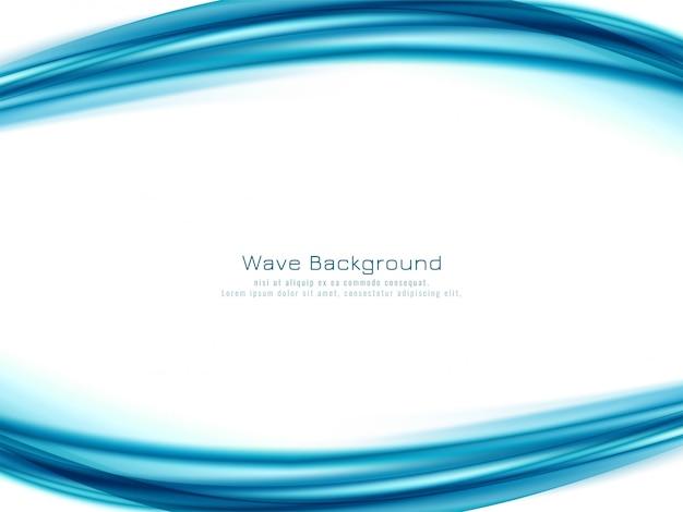 Fondo blu astratto di progettazione dell'onda