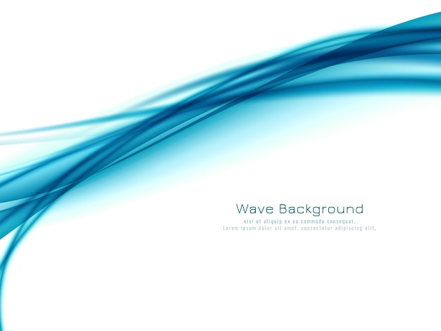Abstract blue wave design elegant background vector