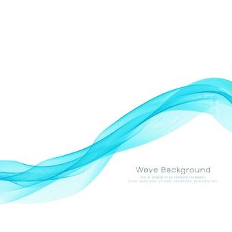 Abstract blue wave design elegant background