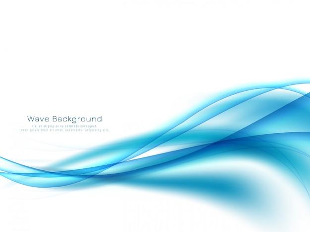 추상 블루 웨이브 디자인 우아한 배경