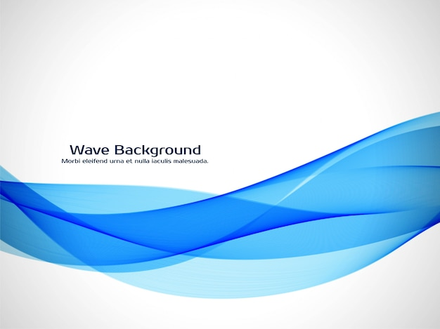 Abstract blue wave elegant background
