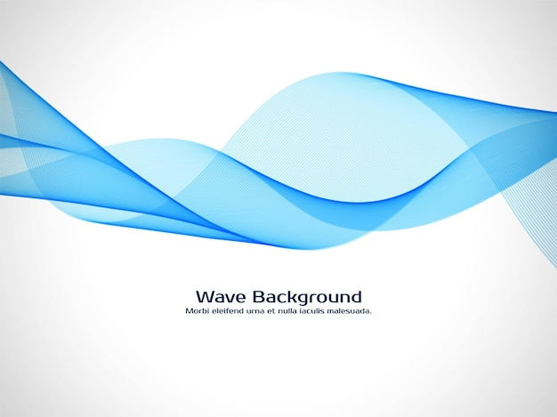 Abstract blue wave elegant