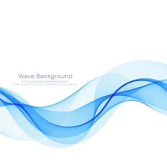 Abstract blue wave flowing background
