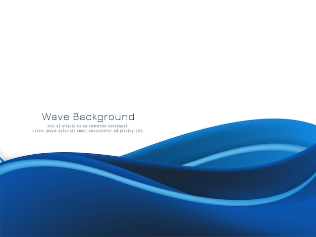 Abstract blue wave modern background vector