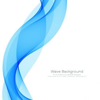 Abstract blue wave modern background