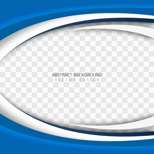 Free Abstract Blue Wave Transparent Background Vector Svg