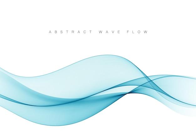 Абстрактный фон вектор голубой волны голубая волна потока фон