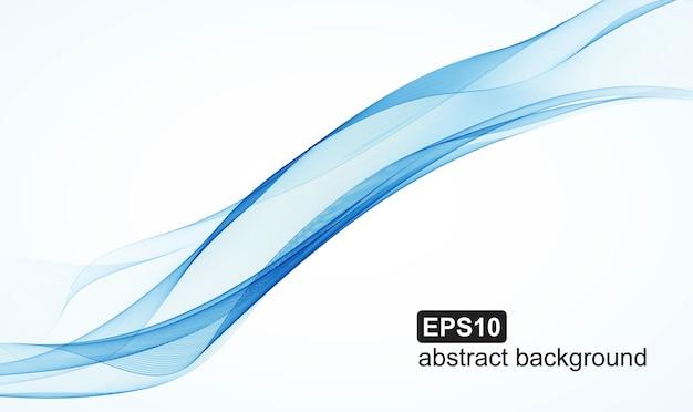 抽象的な青い波の背景イラスト