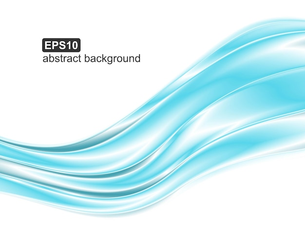 Abstract blue waves background.