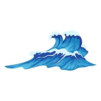 추상 푸른 파도 격리 된 흰색 배경 벡터 일러스트 레이 션