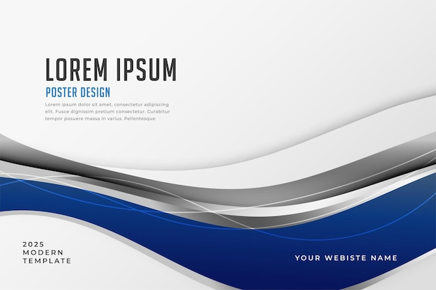 Abstract blue wavy background in business style