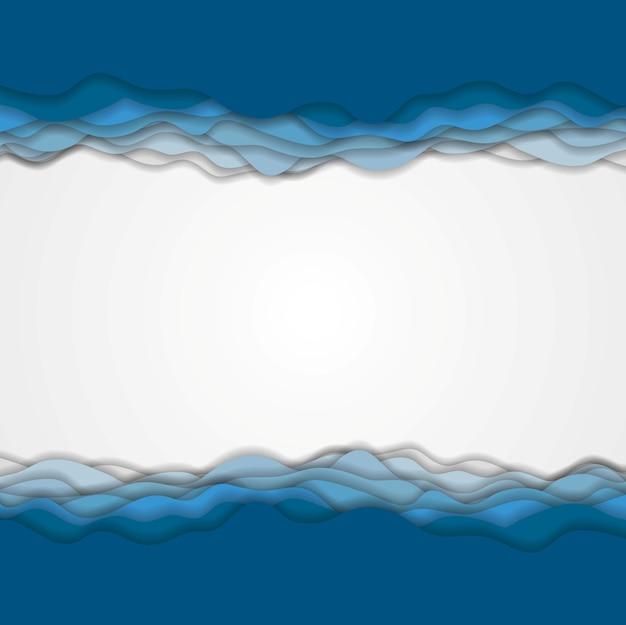 Абстрактный синий волнистый фон. векторный корпоративный дизайн