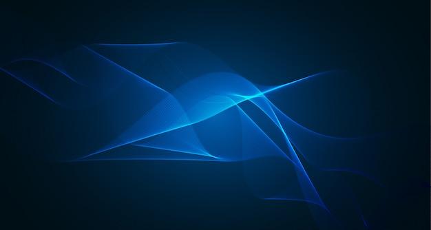 Абстрактный синий волнистый светлый фон