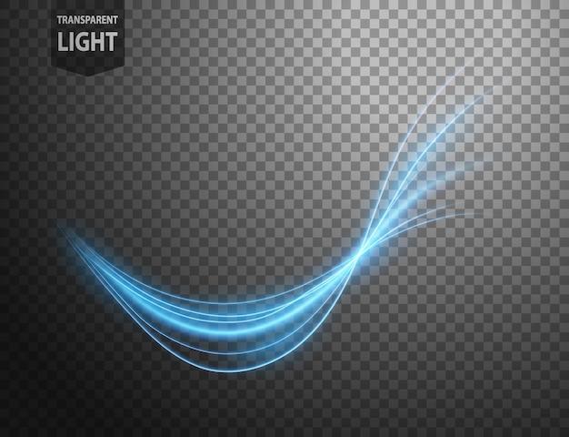 抽象的な青い波線の光