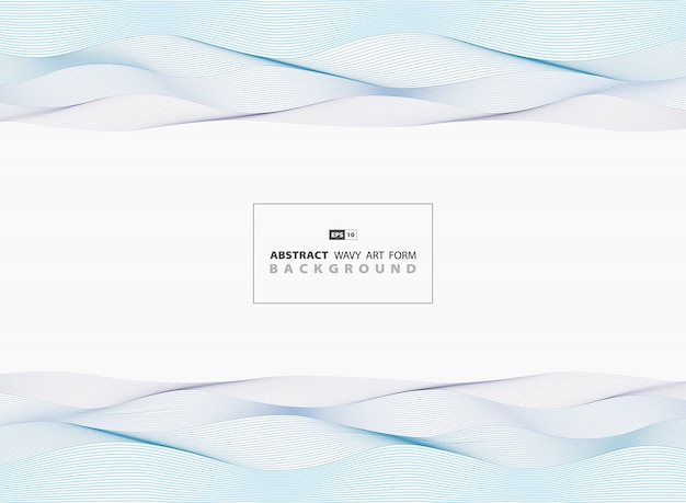 Abstract blue wavy sea pattern  lines background