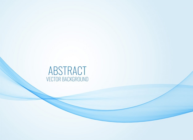 Abstract blue wavy shape background