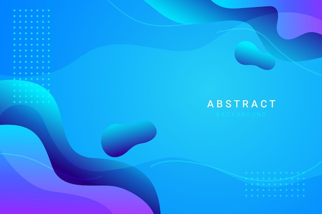 Abstract blue wavy shapes background Premium Vector