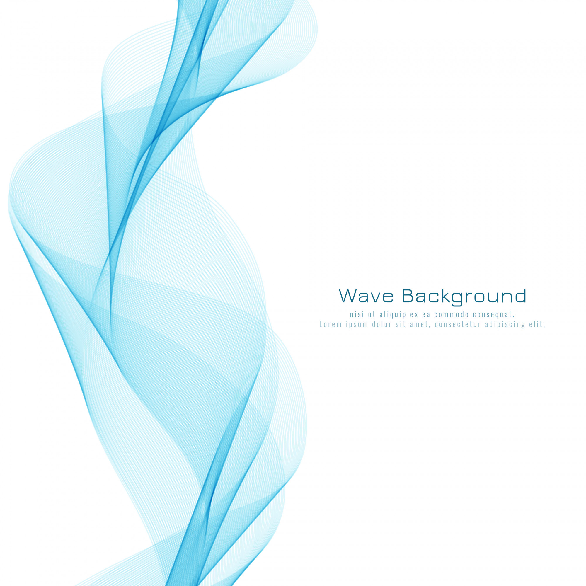 Abstract blue wavy stylish background design