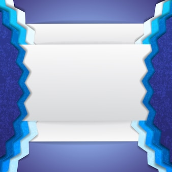 Abstract blue and white background incomprehensible shapes with corners and convex portions