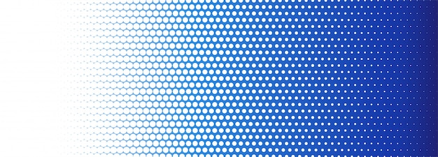 Abstract blue and white dotted banner background