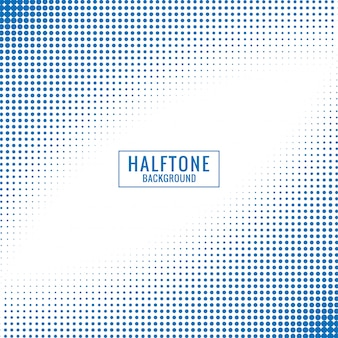 Abstract blue and white halftone background