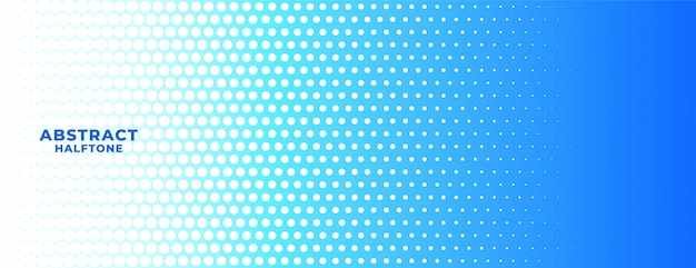 Abstract blue and white halftone wide background banner