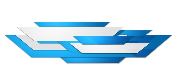 Abstract blue and white motion technology design. corporate background