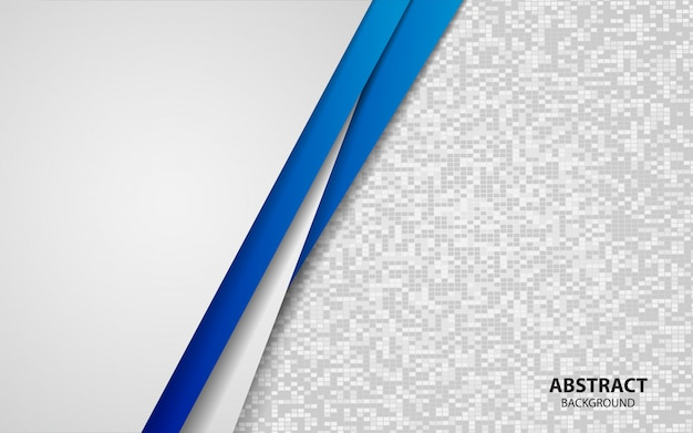 Abstract blue and white overlap layers background