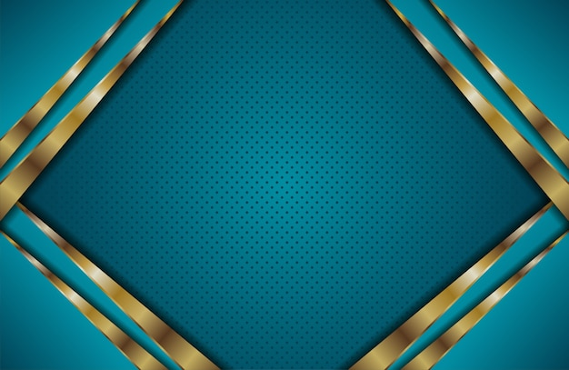 Abstract blue with golden overlap layer