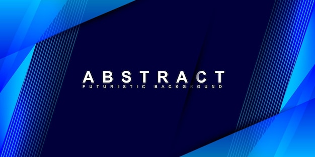Abstract blue with stripe line on gradient white background