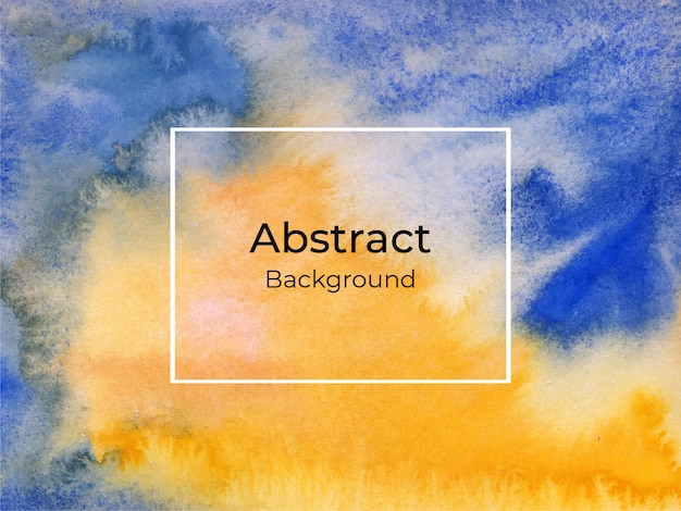 Abstract blue and yellow watercolor background