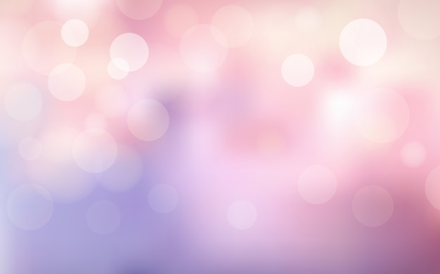 Abstract blur bokeh and lens flare on pink and violet