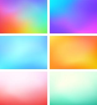 Abstract blur color gradient background set a4 landscape