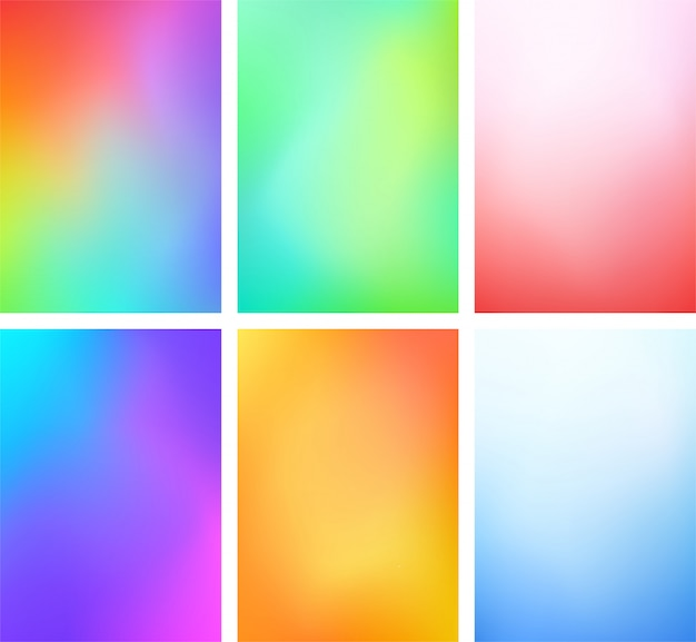 Abstract blur color gradient background set a4 portrait