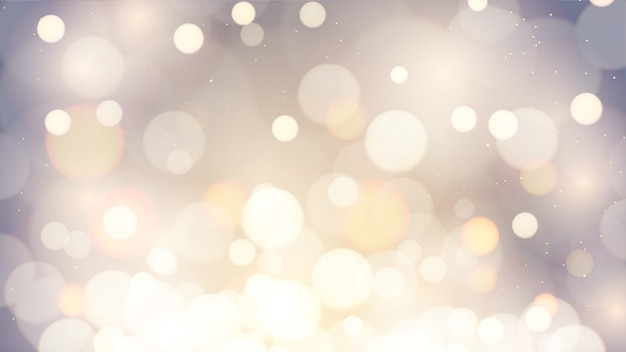 Abstract blur dark color background with golden bokeh bright glow bokeh.