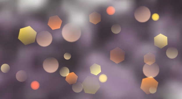 Abstract blurred background with bokeh effect in violet colors