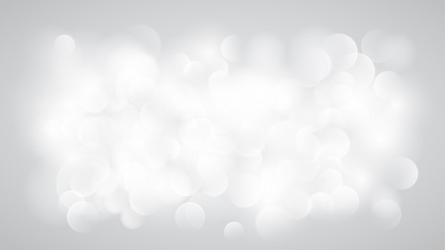 Abstract blurred background with bokeh effect in white colors