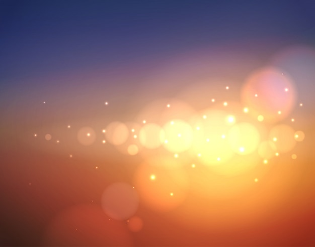 Abstract blurred background with lens flare, sun glare and bokeh
