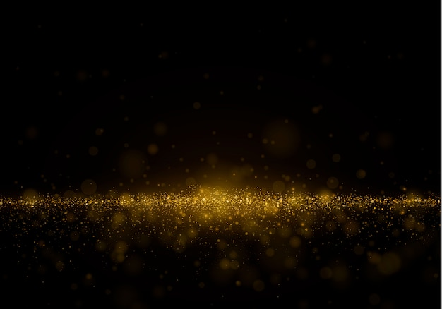 Abstract blurred background with light glare, bokeh and glowing particles.