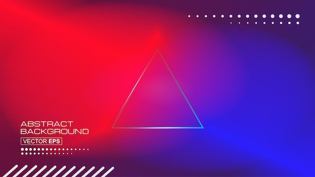 Abstract blurred colorful light spectrum effect triangle center background